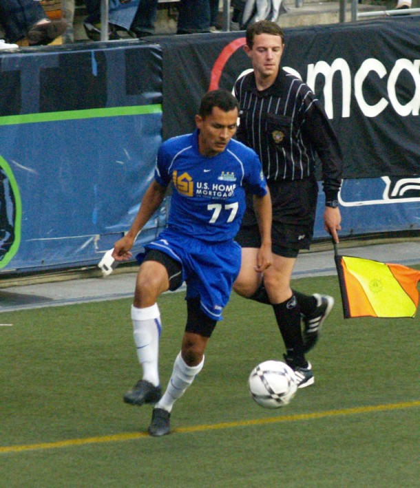 Hugo wore #77 for the 2007 USL Champion Seattle Sounders. (Jenni Conner)