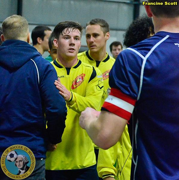 Sportsmanship after the final whistle. (Francine Scott)