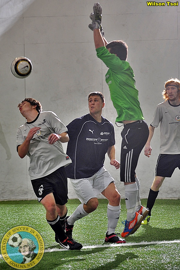 Snohomish Skyhawks host Whatcom Rapids in a PASL indoor soccer contest on January 24, 2014.