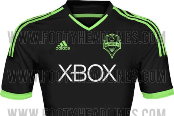 The Sounders new 3rd kit could be this black and neon green affair leaked online. It won't be the class Joel DuChesne 'heritage kit' posted below.