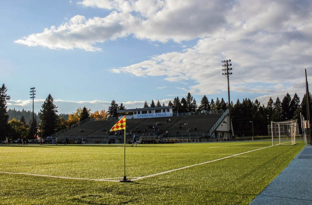 Spokane Falls Community College stadium. (Colton McCoy)