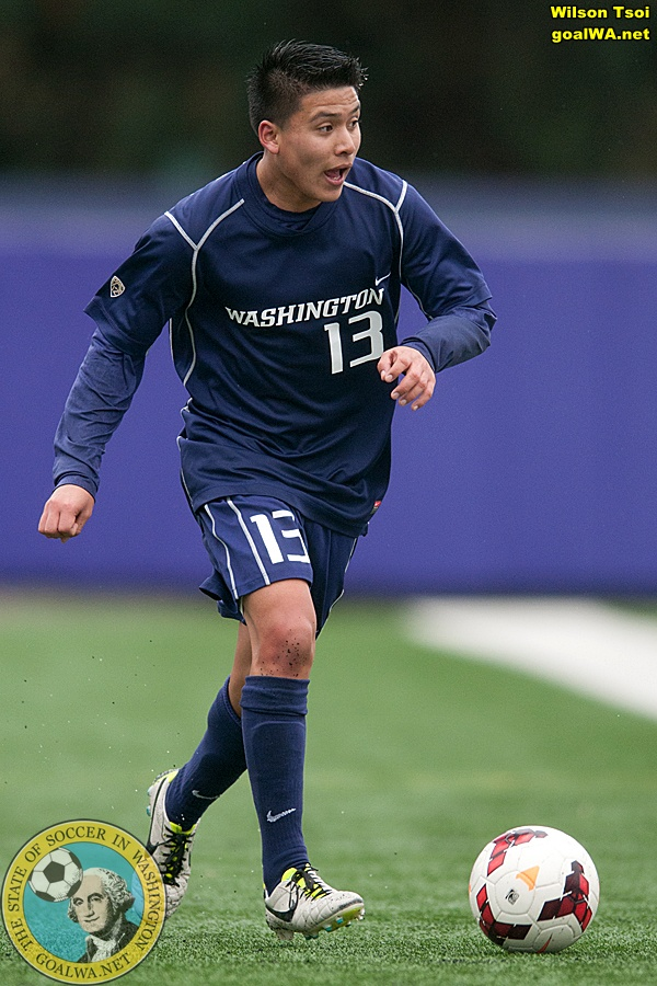 Washington Huskies men's soccer hosting University of Portland in the first pre-season game of 2014.