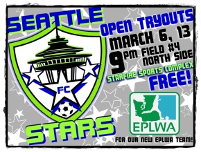 Seattle Stars FC open tryouts March 6, 13 for EPLWA team