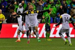 March 29, 2014, Century Link Field, Seattle, Wa. Seattle Sounders FC host Columbus Crew in an MLS showdown.