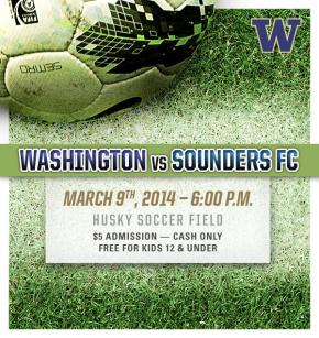 Huskies eager to host Sounders Sunday night