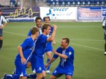 Weaver celebrates on of 18 goals in his 2006 USL Rookie of the Year season. (Jenni Conner)