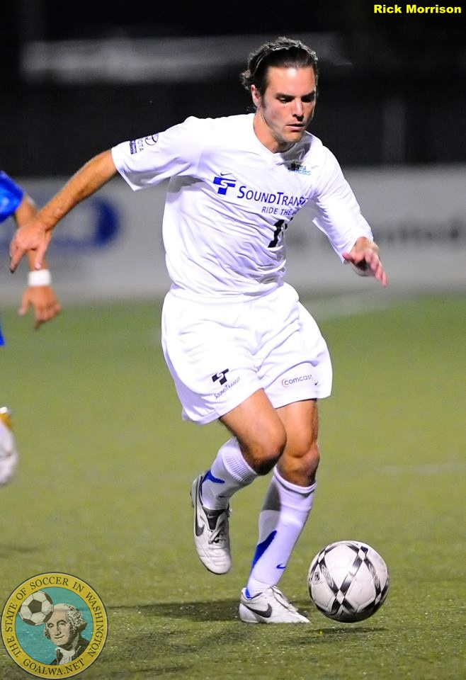 Kevin Forrest in 2008 with the USL Seattle Sounders. (Rick Morrison)
