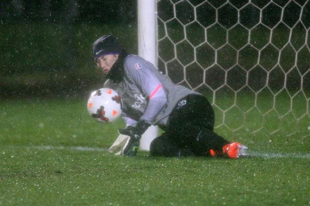 Hope Solo saved a penalty kick as part of her shutout. (Reign Facebook)