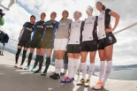Reign FC unveils its new 2014 uniform kits atop Space Needle