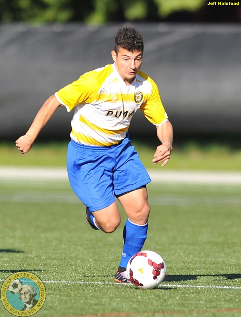 Miguel Gonzales will challenge PDL defenders this year for the Kitsap Pumas. (Jeff Halstead)