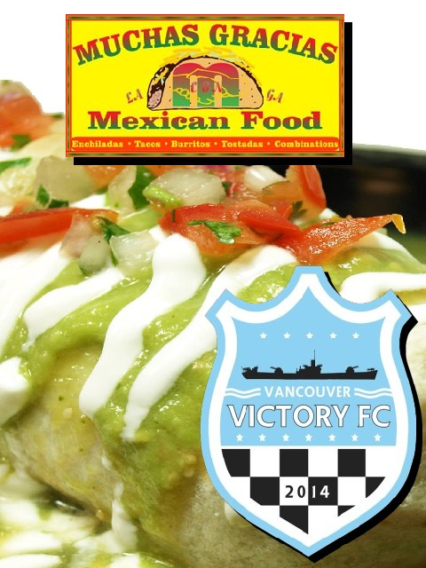 Vancouver Victory FC scores Muchas Gracias Mexican Food as marquee sponsor