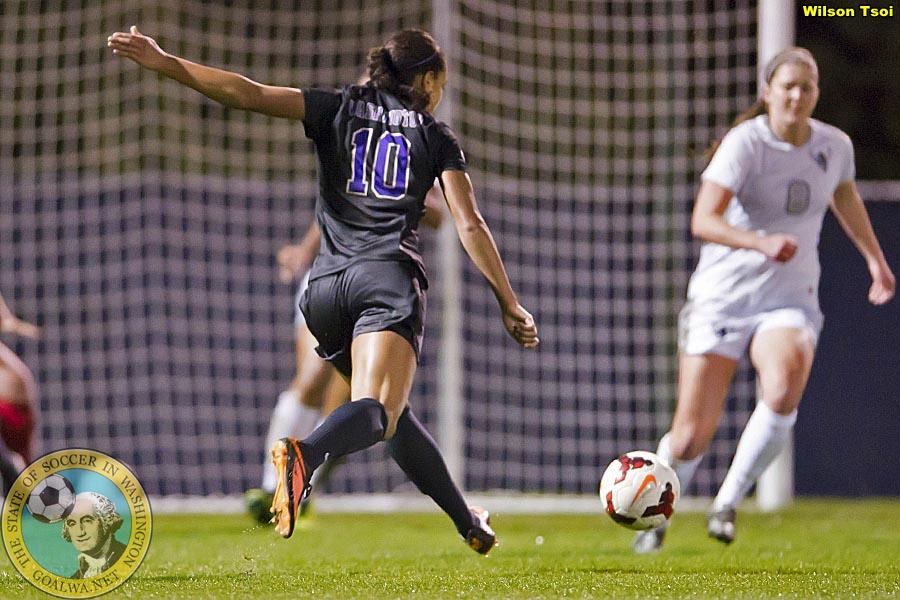 Washington women's soccer defeats Western Washington 2-0 at Husky Soccer Stadium