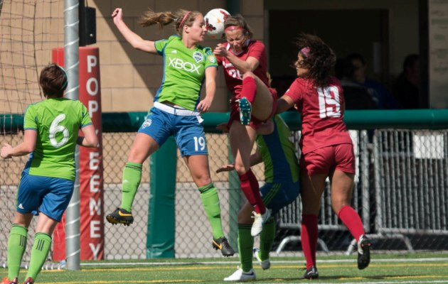 Sounders Women beat WSU in Bothell