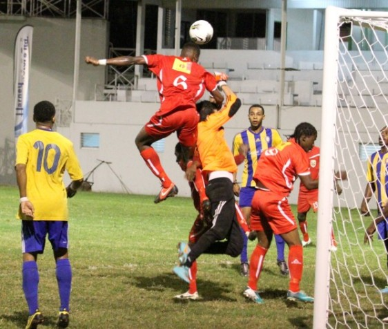 Jamoy Stevens in the air.