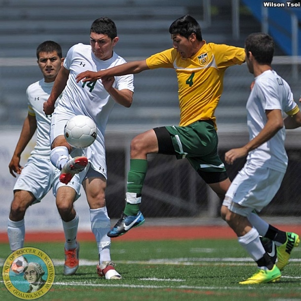 Chelan in white, Quincy in green and gold.