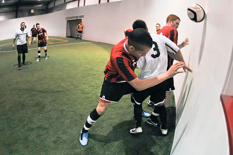 Arlington Aviators in action. The club is a founding member of the new Western Indoor Soccer League (WISL). (Wilson Tsoi)
