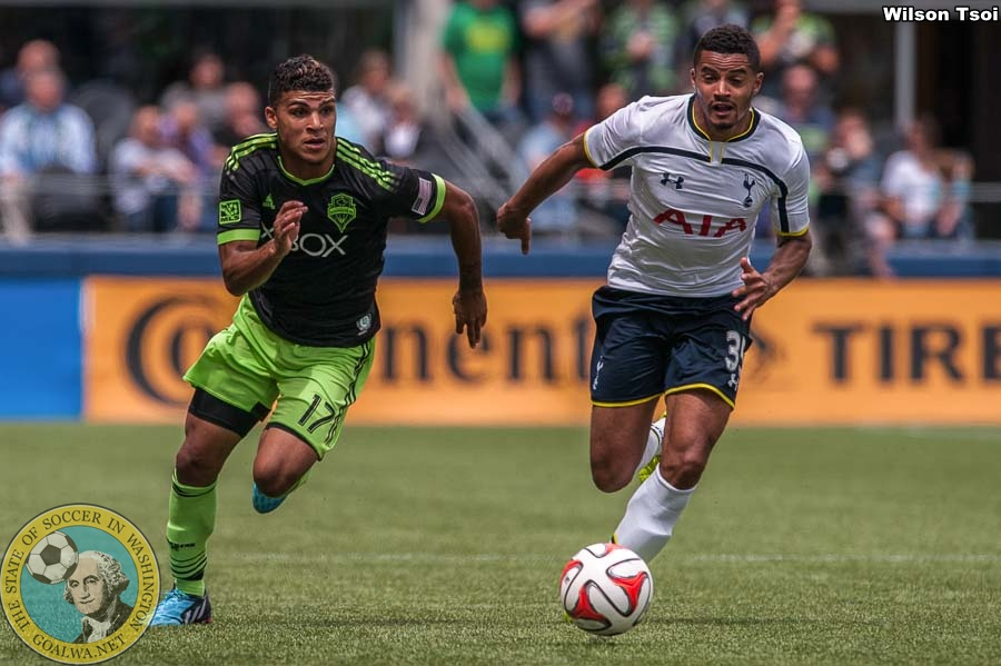 Sounders, Spurs take turns netting goals in high-scoring friendly