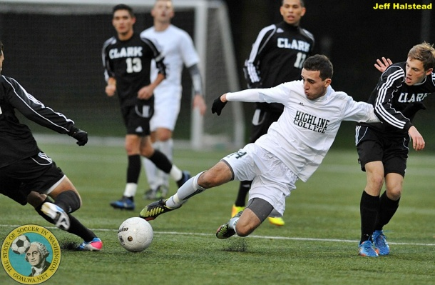 Highline in action in the 2013 NWAC playoffs.