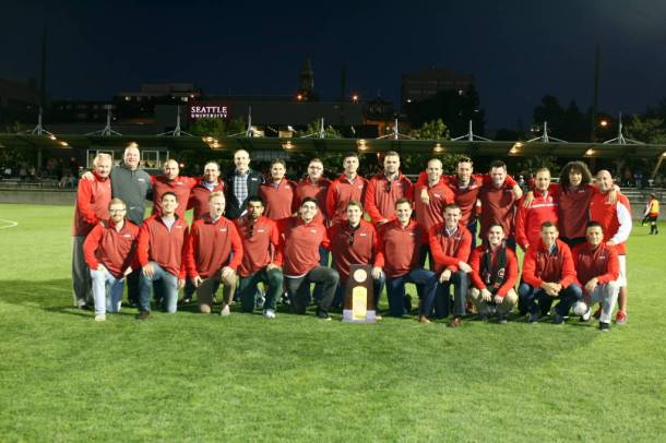 The Redhawks are celebrating the 2004 NCAA II Champions this weekend. (School photo)