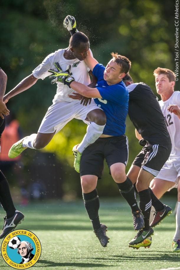 Shoreline CC men's soccer team defeats Tacoma CC 3-0 at Twin Ponds Field