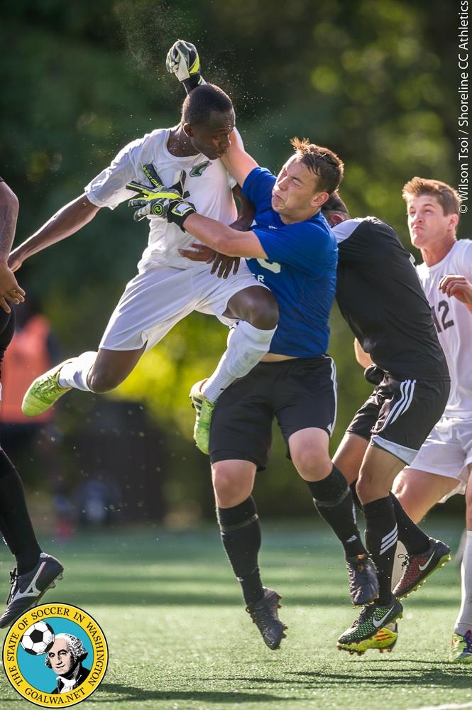 Shoreline CC men's soccer team defeats Tacoma CC 3-0 at Twin Ponds Field