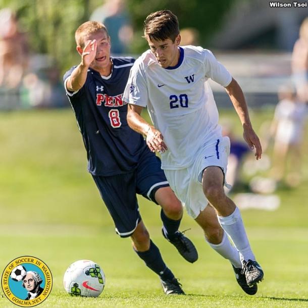 University of Washington men's soccer team defeats Pennsylvania 3-1 at Husky Soccer Stadium