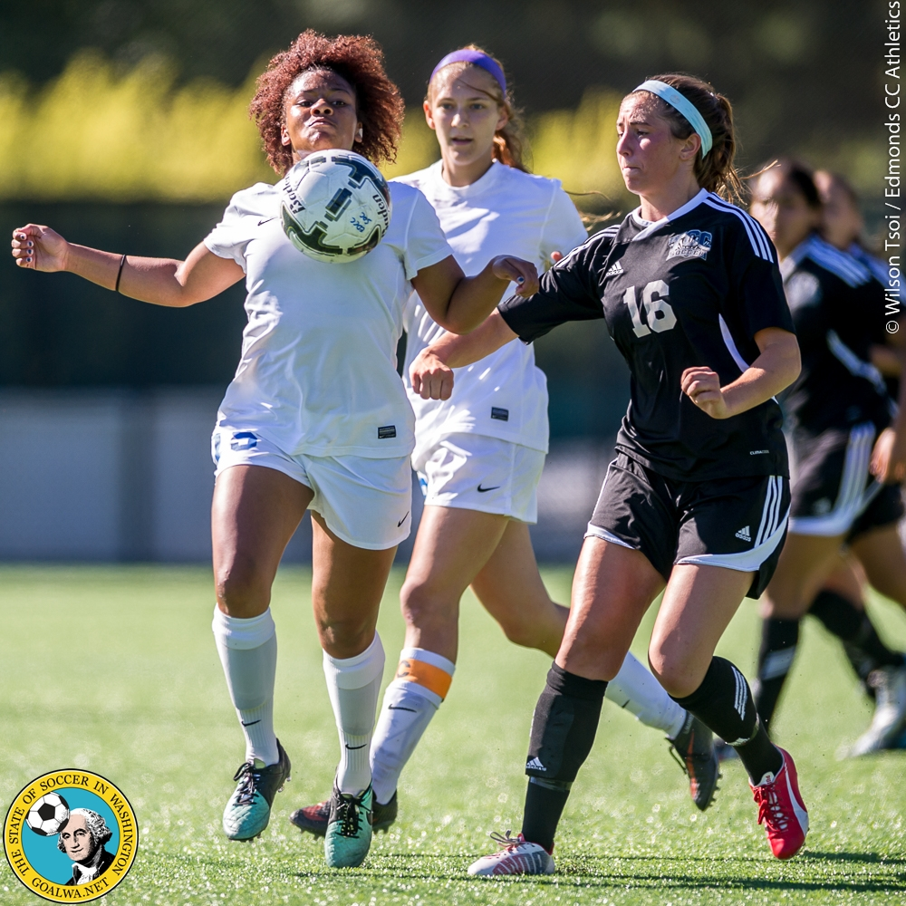 Edmonds CC women's soccer team hosts Tacoma CC at Triton Field