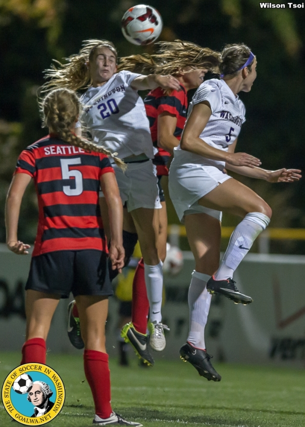 University of Washington women's soccer team defeats Seattle University at Championship Field