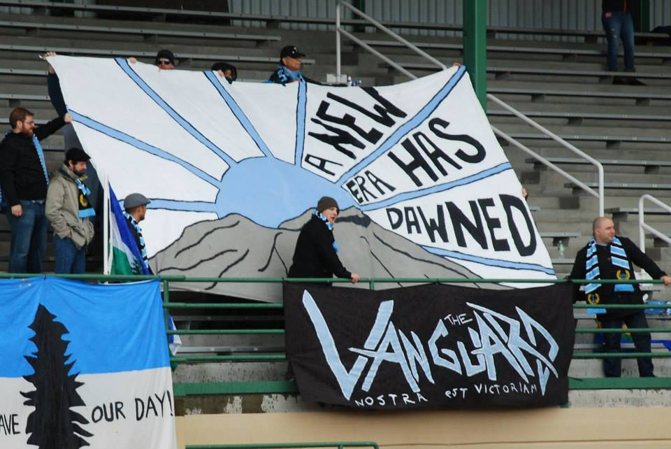 A new era has dawned: For the EPLWA and Vancouver Victory FCX, supported here by The Vanguard.