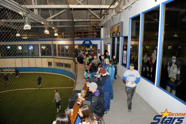 Over 300 fans eventually turned out at the Tacoma Soccer Center as the Stars hosted Seattle Impact FC.