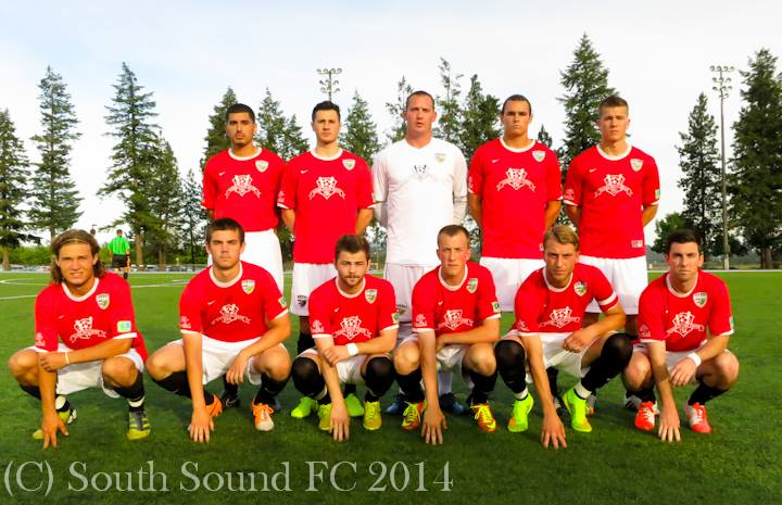 Luke Broz (front row, far left) in the starting eleven for SSFC. (Shock photo)