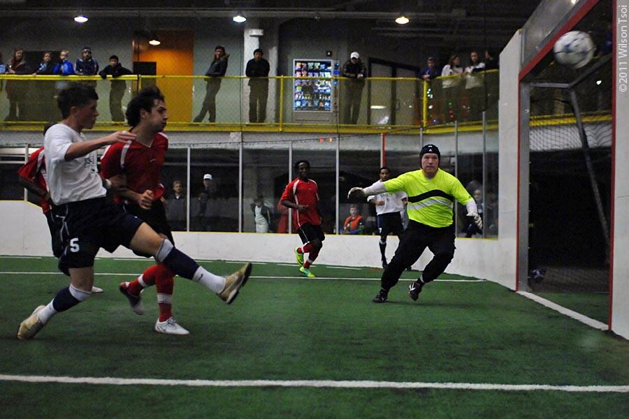 Indoor soccer striker tips