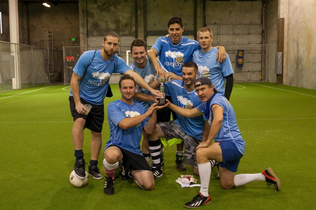 Three for three: Seattle's Bartenders have won three straight NovoFog indoor soccer tournaments after another triumph in late October, 2014.