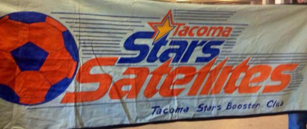 The original Satellites banner has been found and put back into use!