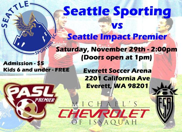 No go: Seattle Impact FC had forfeited their away match at Everett, ruining the home debut of Seattle Sporting FC in the PASL.