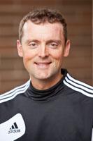 Women's soccer coach Seth Spidahl at PLU on Friday, June 1, 2012. (Photo/John Froschauer)
