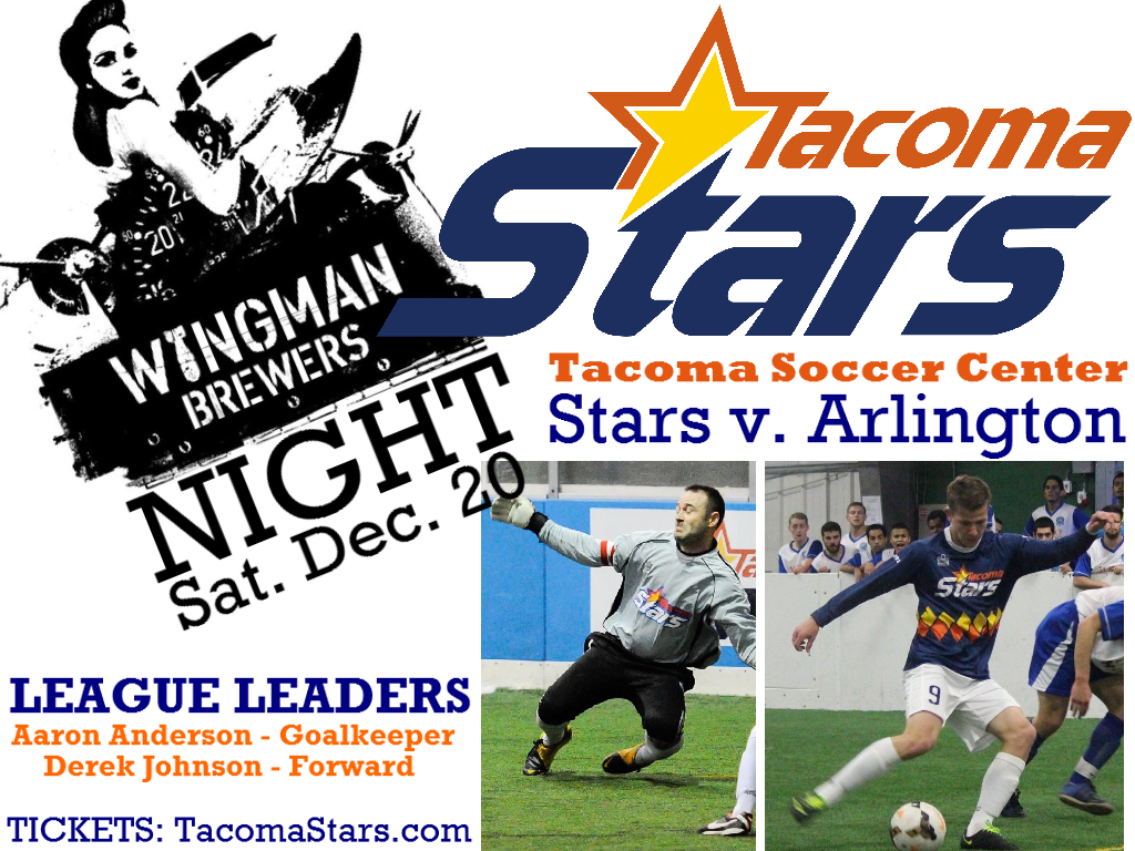 1st place Tacoma Stars host Arlington Saturday at Tacoma Soccer Center