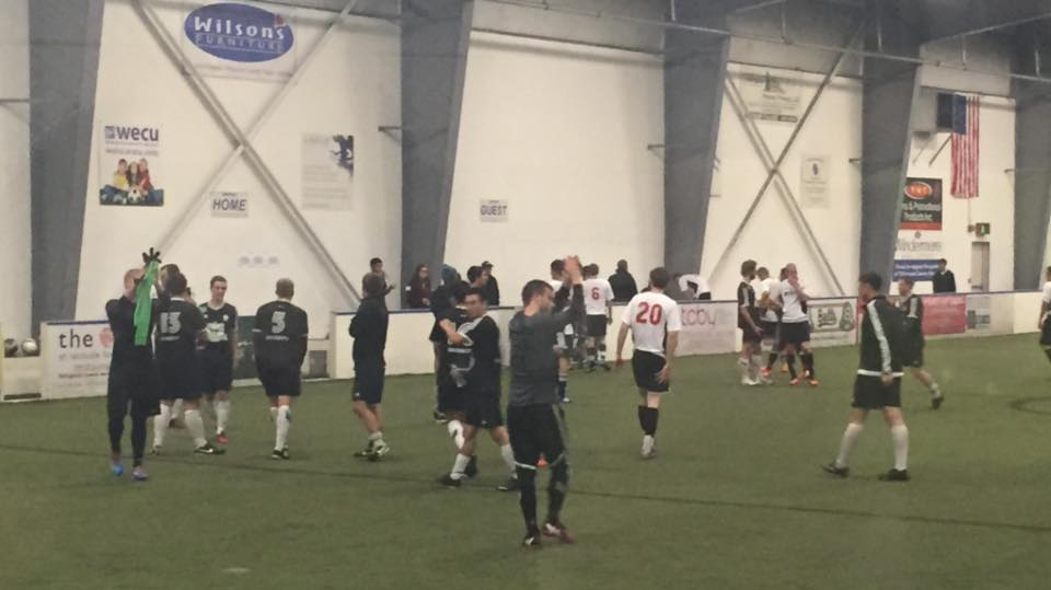 The BUFC Hammers thnak their fans after a wild fourth quarter resulted in an 8-4 win. (Bellinghammers SC Twitter)