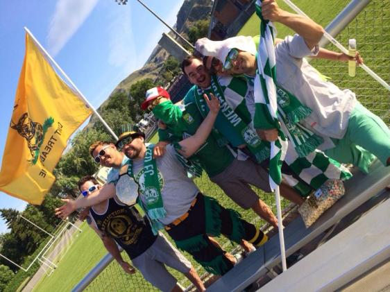 """United - but NOT """"United."""" Wenatchee FC dropped United from their name, but still have the support of The Bridge Mafia."""