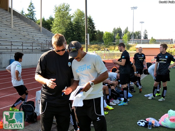 Sean Janson (left) and Biniam Afenegus (right) resigned as coaches for Vancouver. (David Falk)
