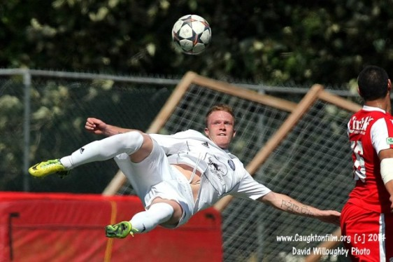 Bellingham's Tyler Bjork scored six goals in the first half of his club's EPLWA match against Yakima. (Davd Willoughby)