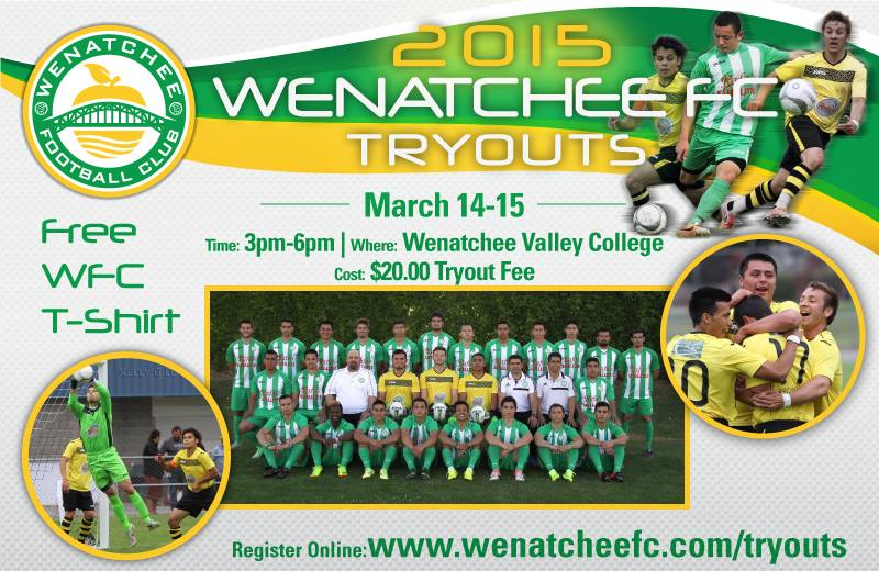 Wenatchee FC posts tryout details, pre-season matches