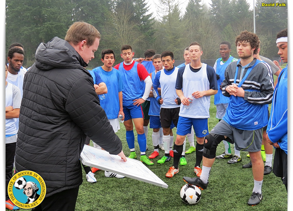 Cammy MacDonald runs the recent KItsap Pumas PDL tryouts. (David Falk)