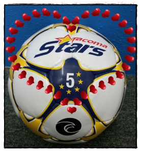 Stars custom balls with be raffled and sold.