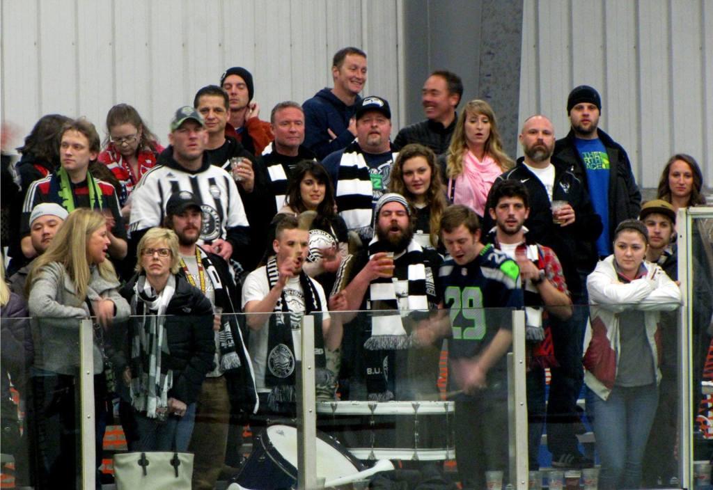 BUFC Black & White Army at a 2014-15 WISL match.