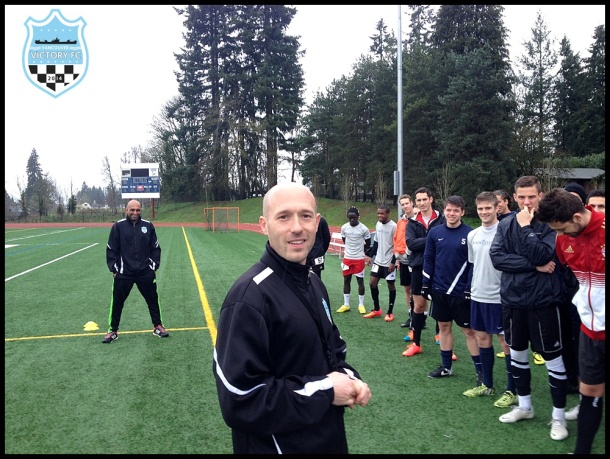 Aaron Lewis led V2FC Open Tryouts earlier this month. Now they clun opens pre-season play Saturday in Vancouver.