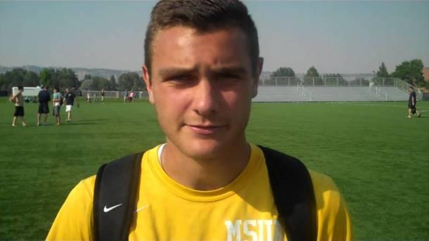 Conner Moe during his career with MSU Billings.