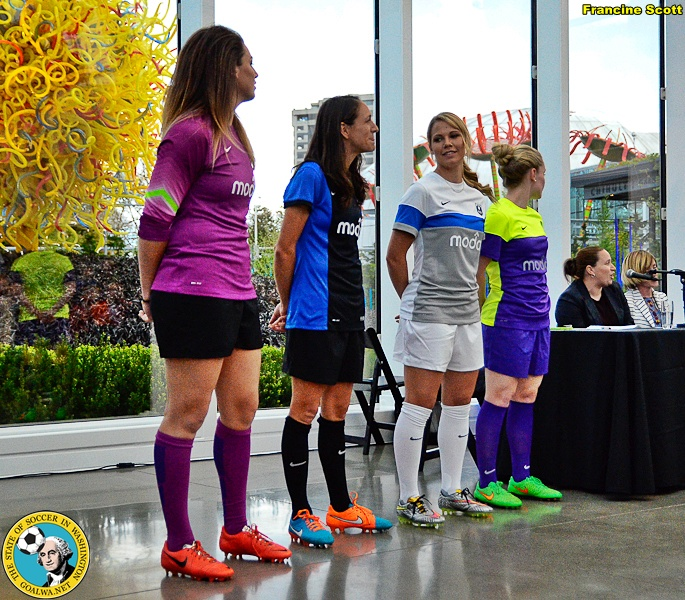 The new Seattle Reign FC kits. (Francine Scott)