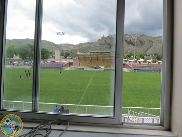 A last look at the grass pitch in Wenatchee's Apple Bowl. (David Falk)
