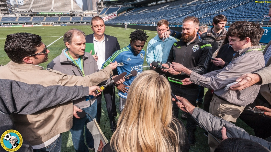 Picture Perfect: Wilson Tsoi shoots Sounders Media Day